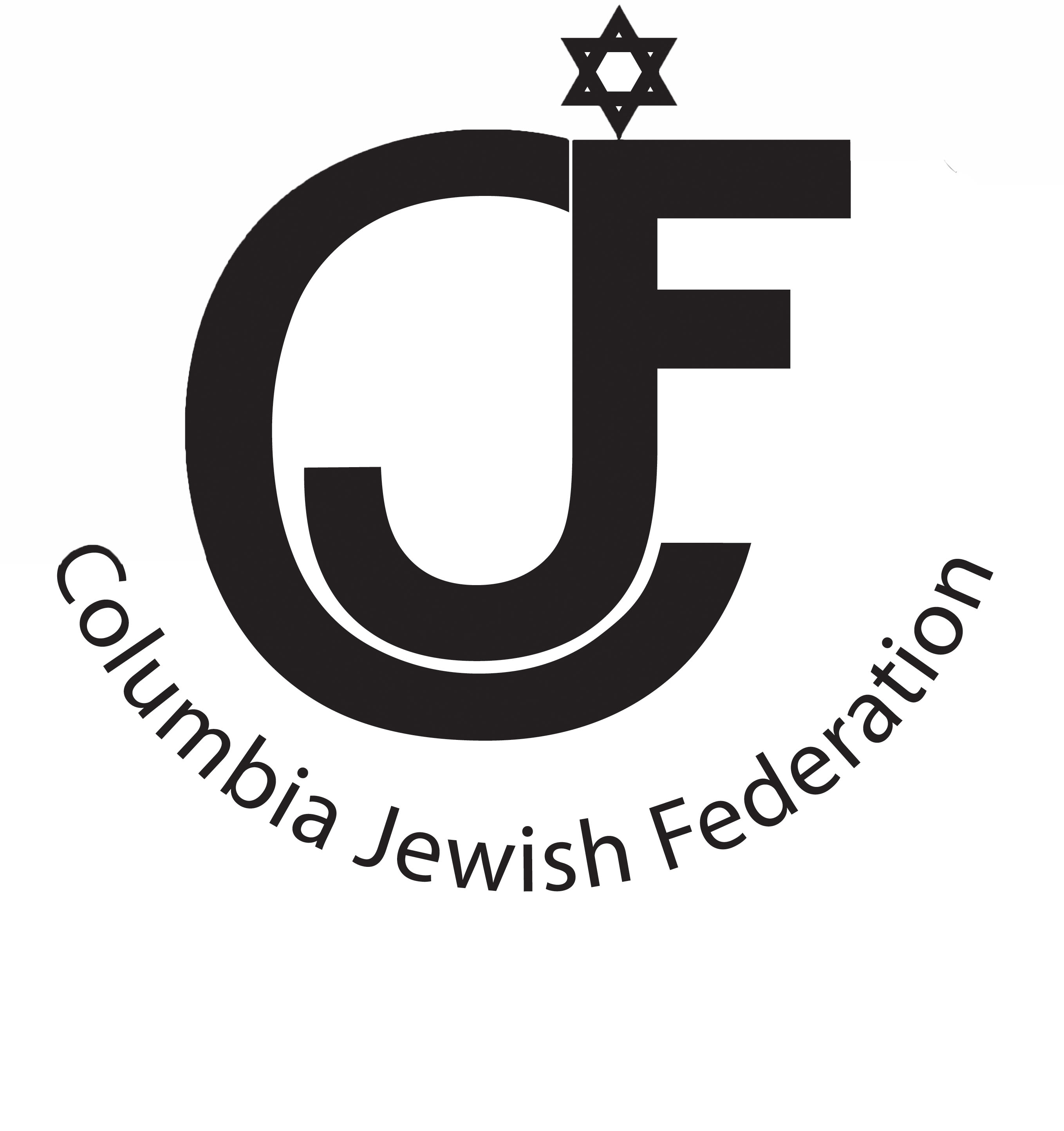 CJF Logo words bw